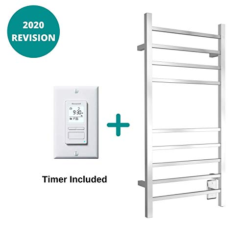 Best Review Of WarmlyYours 10-Bar Metropolitan Towel Warmer, Hardwired, Polished Stainless Steel