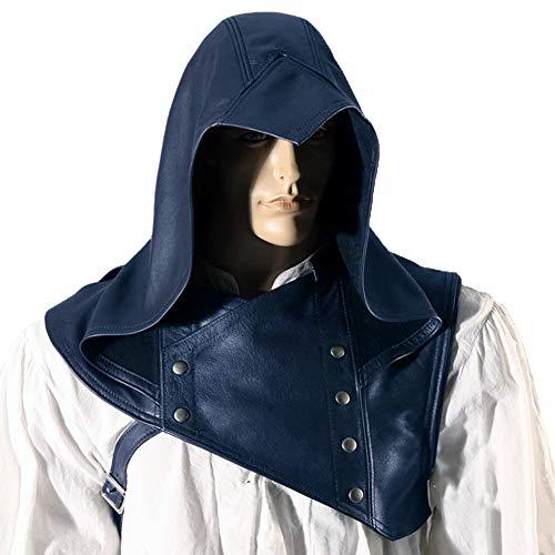 H2okp-009 Unisex vintage middeleeuwse muts met capuchon mantel cape cosplay kostuum eenvoudig casual