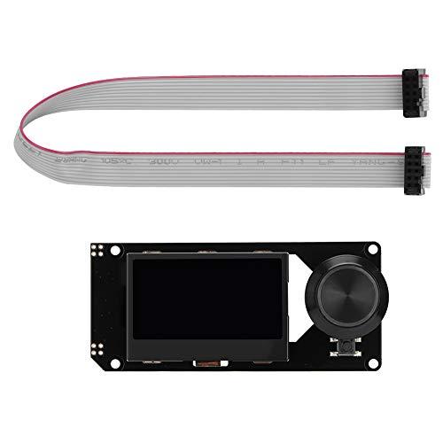 Pantalla Mini 12864LCD, pantalla Lcd Accesorio de impresora 3D MKS Mini 12864 Pantalla LCD Soporte para Marlin DIY con soporte de tarjeta SD para impresora 3D(blanco en RGB)