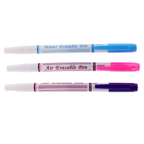 Harilla 3 Uds Bolígrafo Borrable con Agua, Bolígrafo Borrable con Aire, Conjunto de Bolígrafo Que Se Borra con Tinta Que Desaparece, Costura