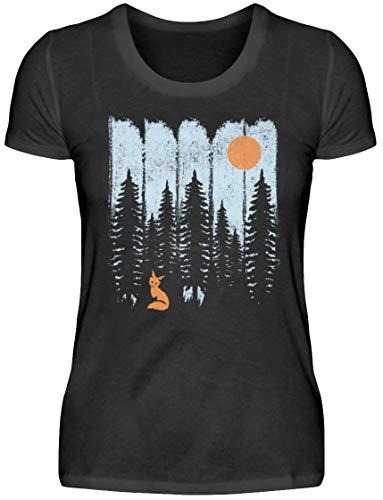 HOLZBRàœDER Fuchs im Wald Holz T-Shirt für Damen perfekt für die Arbeit mit der Kettensäge, Mehrfarbig, L