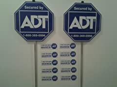 All New Yard Signs and Decals For Any Home or Business wanting that Extra Protection & Prevention! 2 Home Security Alarm Yard Sign and 10 Decals Stickers. Stickers Decals are Double Sided and Can be applied to Either Side of Window Glass ! Best Name ...