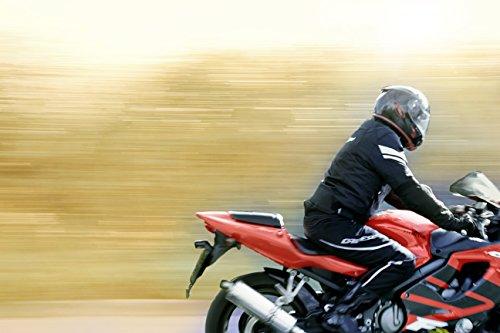 JET Motorradjacke Textil Wasserdicht Winddicht Mit Protektoren Multifunktional Schwarz - 7