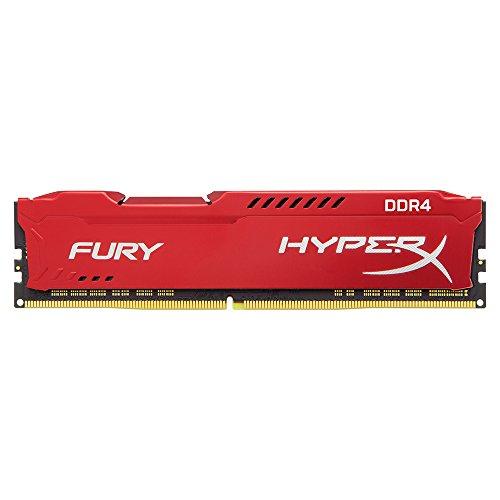 HyperX Fury - Memoria RAM de 8 GB (DDR4, 2400 MHz, CL15, DIMM XMP, HX424C15FR2/8) Color Rojo
