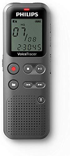 Philips VoiceTracer DVT1110 digitales Diktiergerät zur Aufnahme von Notizen, Ideen und Gedanken unterwegs, 4 GB, USB-Anschluss