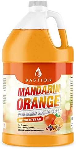Foaming Antibacterial Hand Soap Mandarin Orange Scented Refill 1 Gallon 128 oz Bulk Hand Wash product image