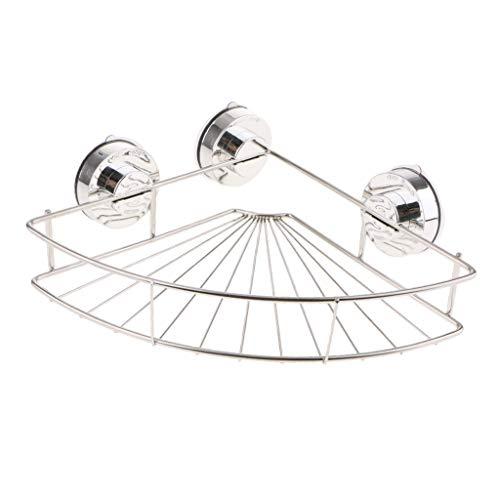 Non-brand Carrito de Ducha Creativo con Soporte de Acero Inoxidable con Ventosa para Almacenamiento en El Baño