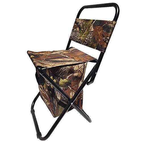 Silla plegable al aire libre, silla de pesca, asiento de camping, ocio, picnic, playa, con respaldo de bolsa de almacenamiento