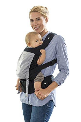AMAZONAS Ergonomische Babytrage Smart Carrier mit Kapuze für Neugeborene & Kleinkinder Mitwachsend ab 0-3 Jahre bis 15 kg 100{aca4520f52b9f5c15cd8476e1a14c9c56dcf5ea667a8755b800108b9ec3c1996} Baumwolle black