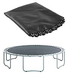 Quality and Size – This trampoline bounce mat is made of PP Mesh heavy duty material; thus, making it durable. Compatible with round trampoline. Stitching and Security – The outdoor trampoline mat has 8 rows of stitching, making the thickness reliabl...