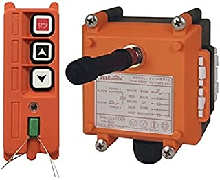 Crane Industrial Radio Remote Control Wireless Transmitter Stop Button 2 Key Switch F21-2S AC/DC (1 Transmitter+1 Receiver) (F21-2S 12V)