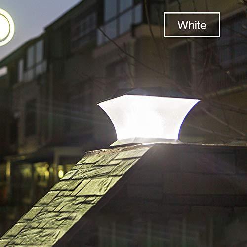 RUGU Solarleuchten Led Pfostenkappe Zaun Helle Außenbeleuchtung Bewegungs-Wand-Lampe für Garten Villa Dekoration Laterne Garten Solarleuchten,Weiß