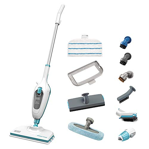 BLACK+DECKER FSMH13E10-QS Lavapavimenti a vapore STEAM-MOP 10 in 1, 1300 W