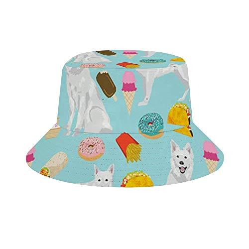 NA Bucket Hat verstaubar Outdoor Camping Angeln Regen Safari Boonie Cap Welsh Corgi Junk Food