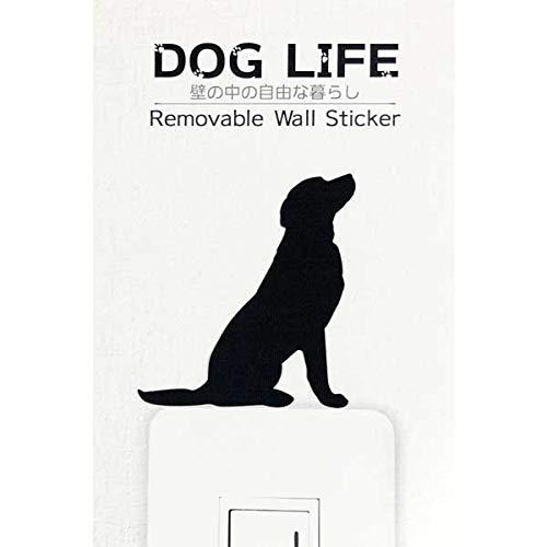ウォールステッカー DOG LIFE 「ラブラドールレトリバー お座り」