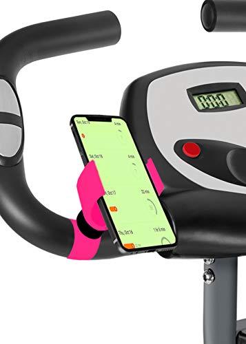 Marvorem mobiele telefoonhouder voor hometrainer F-bike F-Rider fiets spinning oefeningen fitness training houder mobiele telefoon fiets, Fuchsia