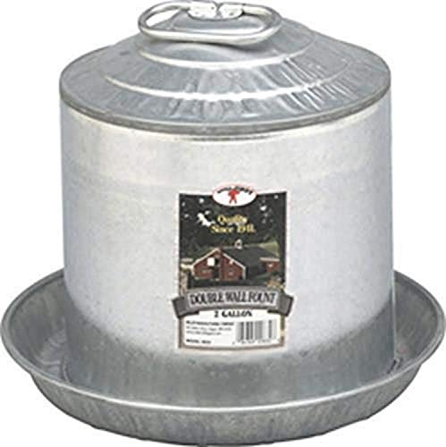 Little Giant Galvanized Metal Chicken Water Feeder