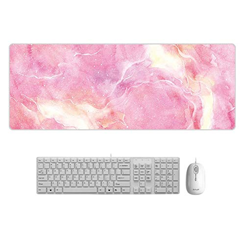 KTYRONE Grote creatieve marmeren kleur 900 * 400 * 3 mm Gaming-muismat Mat voor laptop Computer Desk Pad-toetsenbord