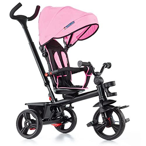 Triciclo Infantil Evolutivo Rosa Plegable - City Molto