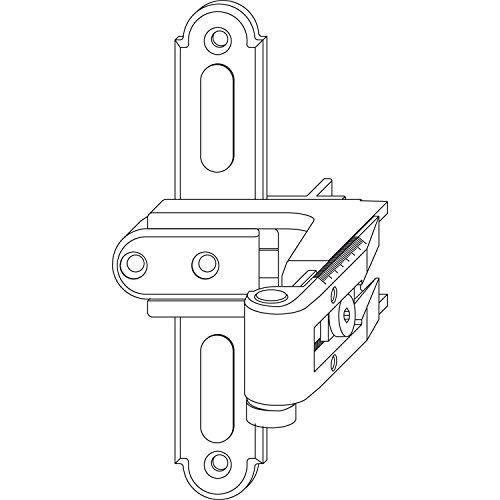 MACO RUSTICO Ladenkreuzband BLR gekröpft Gr. 1, verstellbar, schwarz (56966)