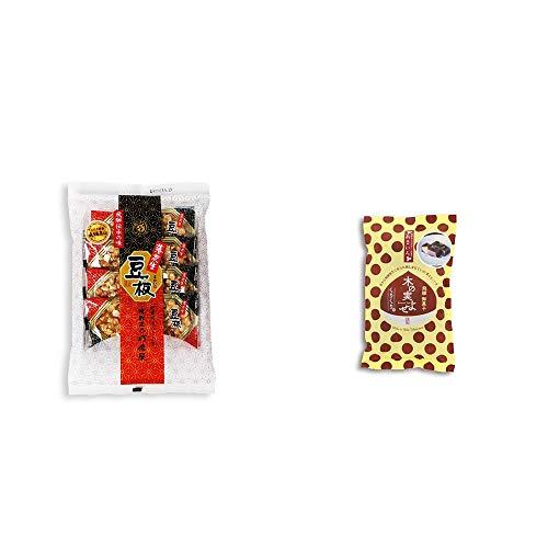 [2点セット] 飛騨銘菓「打保屋」の駄菓子 豆板(8枚入) ・木の実よせ くりくり味(5個入)