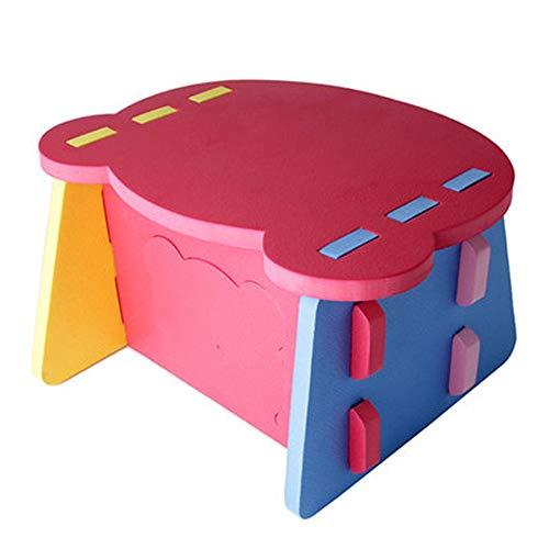 Subobo kindertafel, kinderbank, botsing, kleine speeltafel voor baby's, eettafel, voor thuis, multifunctioneel, robuust en duurzaam Free size Meerkleurig