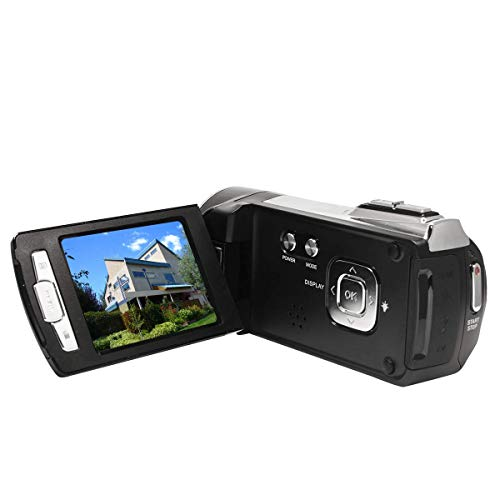 Video Camera Camcorders Digital YouTube Vlogging Camera Recorder FHD 1080P 12MP 2.7 Inch 270 Degree Rotation Screen 8X Digital Zoom Vlog Camera Digital Camcorder with Rechargeable Battery