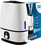 Everlasting Comfort Cool Mist Humidifier for Bedroom with Essential Oil Tray, 6L, White (Renewed)