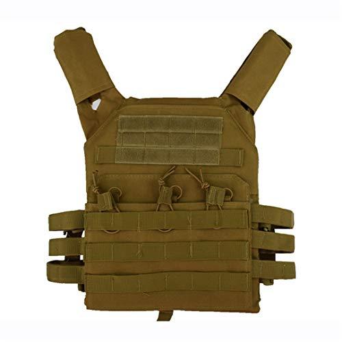 Nylon Tactique Hommes Chasse Armée Paintball Militaire Camouflage Équipement extérieur Porte Plastron Tan One Size