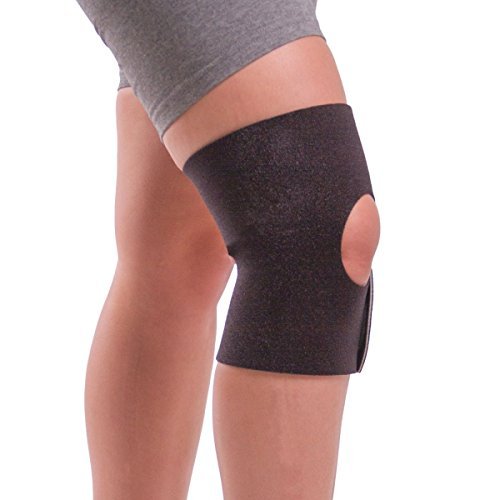 BraceAbility Plus Size Non-slip Knee Support   Comfortable No-Sweat Womens and Mens Brace for Sore Knees, Sprains, Arthritis Joint Pain Relief while Walking, Working Out, Sitting & Standing (Large)