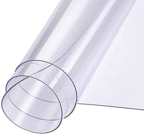 caiyan Tappetino di Protezione per Pavimento PVC Tampone Traslucido Antiscivolo,Resistente all'Usura Personalizzabile Casa Ufficio Pad (Colore: Opaco),Matte 1.5mm,120x120cm