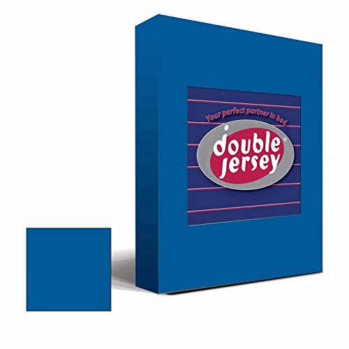 #14 Double Jersey Jersey Spannbettlaken, Spannbetttuch, Bettlaken, 160x200x30 cm, Cobalt - 4