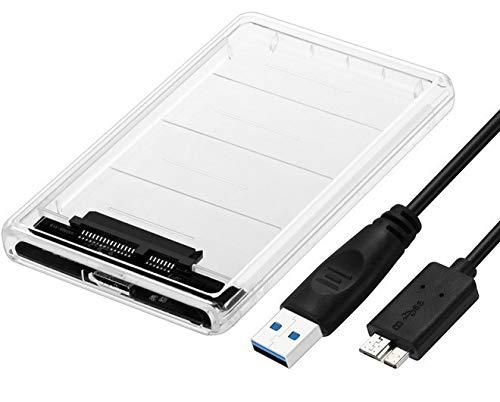 Anmete 2.5' SATA a USB3.0 Caja de disco duro externo portátil...