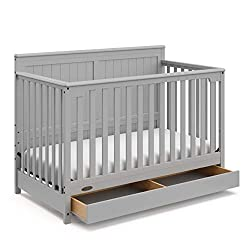 This image shows Graco Hadley 4-in-1 that is the best cribs with storage underneath in my review