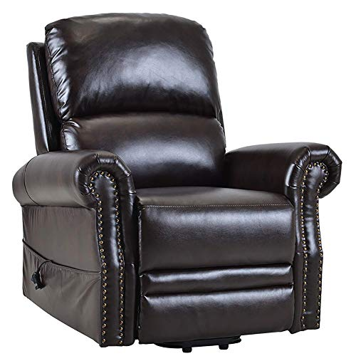 ZZYYZZ Power Lift Chair, Electric Lounge Chair for Elderly, PU Leather Sofa Recliner Armchair Room Chair with Side Pocket and Remote Control