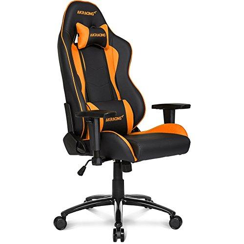 AKRacing Nitro Sedia Gaming, Finta Pelle, Nero Arancione, 70 x 60 x 90 cm 5 unità