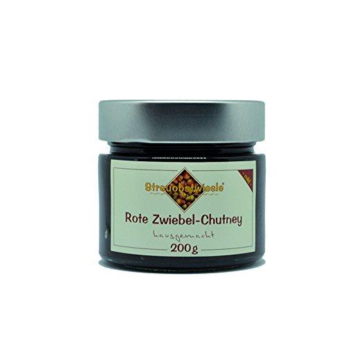 Streuobstwiesle Rote Zwiebel Chutney - 200 g - Herzhafte, aromatische Sauce zum Grillen, zum Fondue, zum Raclette, zum Kase, zum Reis...
