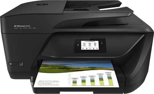 HP OfficeJet Pro 6950 P4C85A, Impresora Multifunción Tinta, Imprime, Escanea, Copia y Fax, Wi-Fi, HP Smart App, Cable Telefónico para el Fax, Incluye 3 Meses del Servicio Instant Ink, Negra