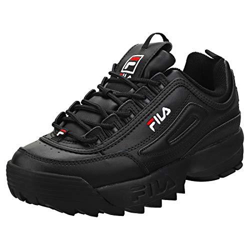 Fila Disruptor II - Zapatillas deportivas para mujer, Negro (Negro/Blanco/Rojo), 36.5 EU