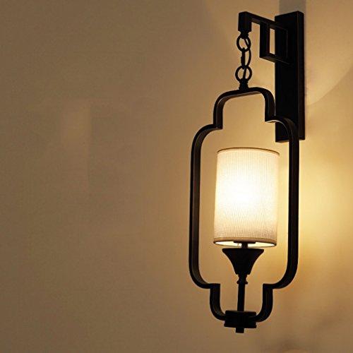 Lampe de mur Lampe de chevet Lampe de mur Aisle Living Room Lampe de mur chinoise rétro (couleur : Noir)