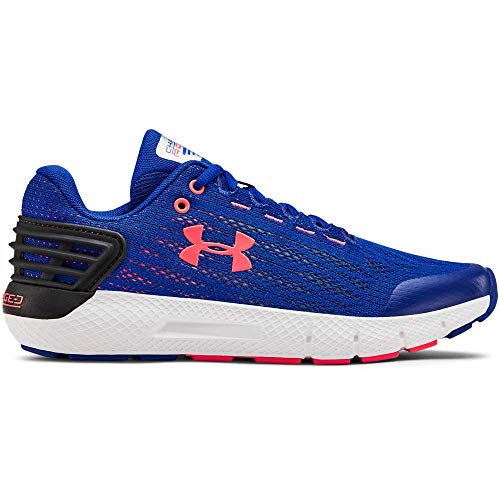 UNDER ARMOUR Boys' Grade School Charged Rogue Sneaker, Royal (402)/White, 5