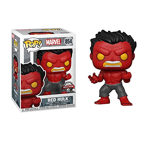 Funko POP! Marvel Red Hulk Vinyl Figur with Chase Variant - Special Edition Exclusive 854