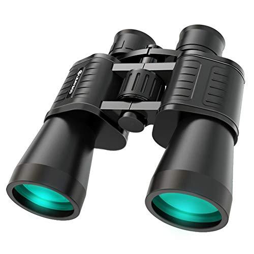 Inconnu Jumelles 10X50 pour Adultes Jumelles Compactes Étanches/Prisme Bak7 / Optique MC/Bino Puissant pour L'Observation des Oiseaux-ZT