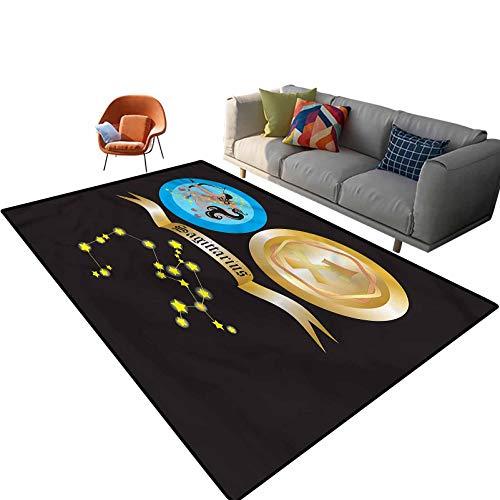 Alfombra rectangular de suelo centauro mítico con parte trasera antideslizante para entrada, sala de estar, dormitorio, guardería, sofá, decoración del hogar