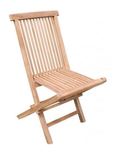 Lot de 2 chaise pliante en teck brut
