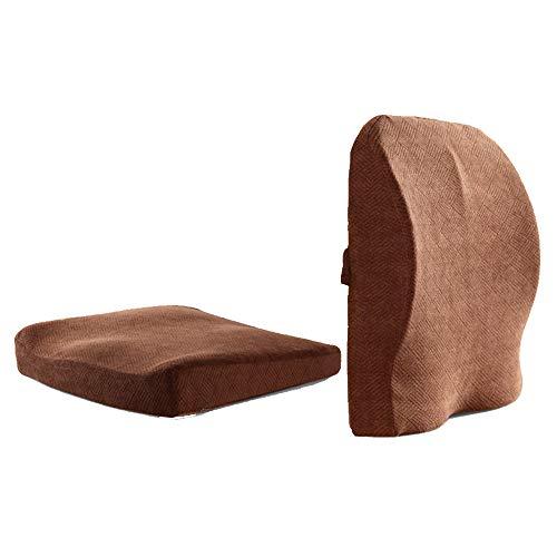 SEGIBUY Zitkussen en onderrugsteunkussen - Ergonomisch Lumbarkussen Bescherm en kalmeer je rug, geschikt voor autostoel, bureaustoel en rolstoel