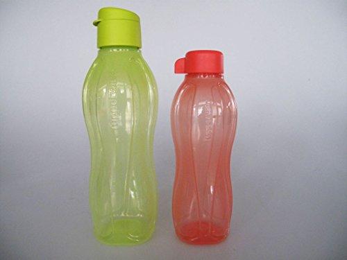 TUPPERWARE To Go Eco 750 ml gelb + 500 ml lachs Flaschen Ecoflasche Trinkflasche