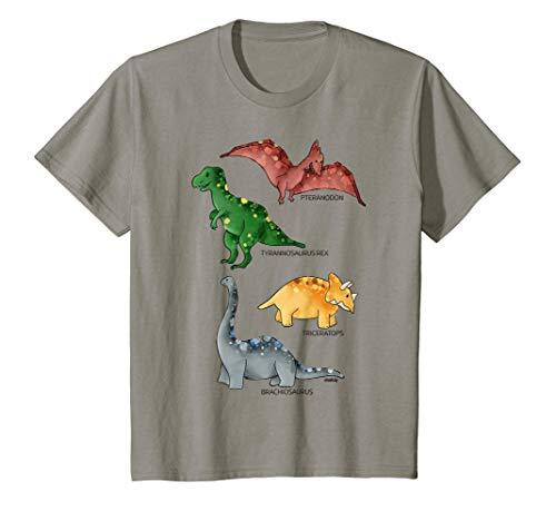 Kinder Dinosaurier T-Shirt Jungen Mädchen Dinos Tyrannosaurus