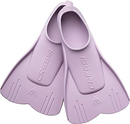 Cressi Mini Light Fins - Aletas Cortas para Niños, Unisex, Lila 29/31