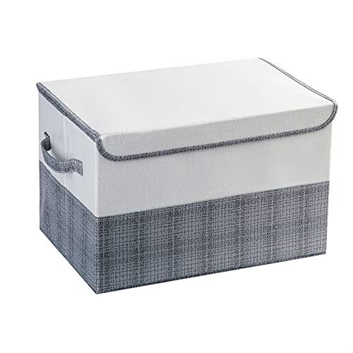 NZQK Algodón Ropa de Almacenamiento contenedores de Ropa organización Caja Ropa Interior Caja de Almacenamiento Armario Canasta Cesta (Color : Black)